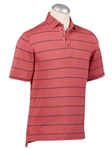 Baroque Rose XH2O Stripe Jersey Pique Short Sleeve Polo | Bobby Jones Polos Collection | Sam's Tailoring Fine Men Clothing