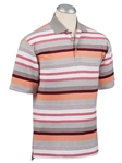 Heather Grey Spice Stripe Cotton Blend Polo | Bobby Jones Polos Collection | Sam's Tailoring Fine Men Clothing