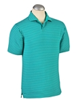 Atlantis Resort Stripe Liquid Cotton Open Placket Polo | Bobby Jones Polos Collection | Sam's Tailoring Fine Men Clothing