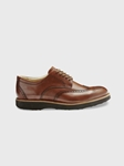 Whiskey Leather / Dark Chocolate Sole Tipping Point Dress Shoes | Men's Dress Shoes | Sam's Tailoring Fine Men Clothing