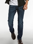 Dark Vintage Wash With Charcoal Slim Straight Parker Denim | Spring Denim Collection | Sam's Tailoring Fine Men Clothing