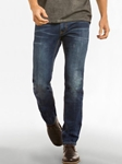 Medium Vintage Wash Slim Straight Leg Parker Denim | Spring Denim Collection | Sam's Tailoring Fine Men Clothing