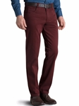 Red Diego Satin Swing Pocket Chino | Meyer Swing Pockets | Sam's Tailoring Fine Men Clothing