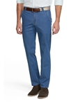 Light Blue Stone Roma Denim Chino | Meyer Trousers/Chinos |  Sam's Tailoring Fine Men Clothing