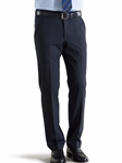 Navy Roma Regular Fit Fine Tropical Trouser | Meyer Trousers/Chinos |  Sam's Tailoring Fine Men Clothing