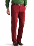 Red Roma Regular Fit Soft Cotton Chino | Meyer Trousers/Chinos |  Sam's Tailoring Fine Men Clothing