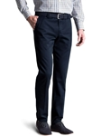 Navy Bonn Fairtrade Soft Cotton Chino | Meyer Trousers/Chinos |  Sam's Tailoring Fine Men Clothing
