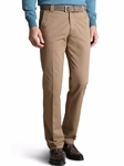 Beige Roma Regular Fit Soft Cotton Chino | Meyer Trousers/Chinos |  Sam's Tailoring Fine Men Clothing