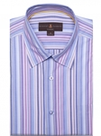 Pink and White Stripe Anderson II Classic Sport Shirt | Robert Talbott Fall Sport Shirts Collection  | Sam's Tailoring Fine Men Clothing