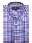 Blue and Pink Plaid Anderson II Classic Sport Shirt | Robert Talbott Fall Sport Shirts Collection  | Sam's Tailoring Fine Men Clothing