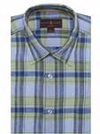 Green and Blue Check Anderson II Classic Sport Shirt | Robert Talbott Fall Sport Shirts Collection  | Sam's Tailoring Fine Men Clothing