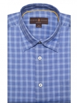 Blue Tonal Check Anderson II Classic Sport Shirt | Robert Talbott Fall Sport Shirts Collection  | Sam's Tailoring Fine Men Clothing