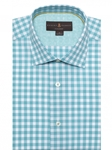 Turquoise and White Gingham Check Crespi I | Robert Talbott Fall Sport Shirts Collection  | Sam's Tailoring Fine Men ClothingV Tailored Sport Shirt