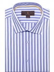 Blue and White Awning Stripe Crespi IV Tailored Sport Shirt | Robert Talbott Fall Sport Shirts Collection  | Sam's Tailoring Fine Men Clothing