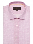 Pink with White Over Print Crespi IV Tailored Sport Shirt | Robert Talbott Fall Sport Shirts Collection  | Sam's Tailoring Fine Men Clothing