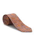 Orange and Sky Paisley Heritage Best of Class Tie | Best of Class Ties Collection | Sam's Tailoring Fine Men Clothing