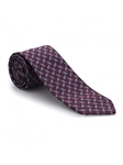 Wine and Blue Print Venture Best of Class Tie | Best of Class Ties Collection | Sam's Tailoring Fine Men Clothing