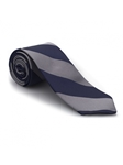 Gray and Navy Stripe Academy Best of Class Tie | Best of Class Ties Collection | Sam's Tailoring Fine Men Clothing