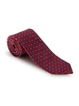 Red and Navy Neat Heritage Best of Class Tie | Best of Class Ties Collection | Sam's Tailoring Fine Men Clothing