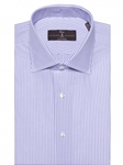 Iris and White Summer Lux Twill Stripe Dress Shirt | Robert Talbott Fall Dress Collection | Sam's Tailoring Fine Men Clothing