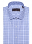 Cadet and White Zephir Poplin Estate Dress Shirt | Robert Talbott Fall Dress Collection | Sam's Tailoring Fine Men Clothing