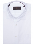 White Solid Textured Classic Fit Dress Shirt | Robert Talbott Fall Dress Collection | Sam's Tailoring Fine Men Clothing