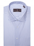 Sky Lux Summer Twill Stripe Classic Dress Shirt | Robert Talbott Fall Dress Collection | Sam's Tailoring Fine Men Clothing