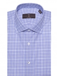 Aqua, Blue and White Zephir Poplin Check Dress Shirt | Robert Talbott Fall Dress Collection | Sam's Tailoring Fine Men Clothing