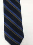 Navy, Blue and Tan Stripe Estate Tie | Estate Ties Collection | Sam's Tailoring Fine Men Clothing