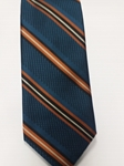 Sea Green, Orange, White and Black Estate Tie | Estate Ties Collection | Sam's Tailoring Fine Men Clothing