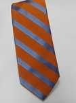 Sky Blue and Orange Stripe Estate Tie | Estate Ties Collection | Sam's Tailoring Fine Men Clothing