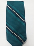 Green, Navy and White Stripe Estate Tie | Estate Ties Collection | Sam's Tailoring Fine Men Clothing