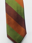 Wine, Orange and Green Stripe Estate Tie | Estate Ties Collection | Sam's Tailoring Fine Men Clothing