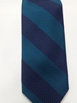 Turquoise and Navy Stripe Estate Tie | Estate Ties Collection | Sam's Tailoring Fine Men Clothing