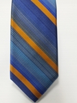 Blue, Sky blue and Orange Stripe Estate Tie | Estate Ties Collection | Sam's Tailoring Fine Men Clothing