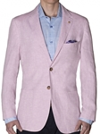 Robert Talbott Pink Yarn, Dyed Linen Marin-Stretch Soft Jacket (Classic Fit) JKT126-03 | Sam's Tailoring Fine Men's Clothing
