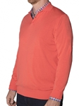 Robert Talbott Sea Island Cotton Papaya Clifton Polo Mock Button Sweater (Classic Fit) LS778-04 | Sam's Tailoring Fine Men's Clothing
