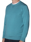 Robert Talbott Teal Ribbed Triangle Neck Sport Crew Westcliff-jersey (Classic Fit) LS783-05| Sam's Tailoring Fine Men's Clothing