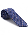 Robert talbott Blue with Gold and Rust iEST-AMBASSADOR Estate Tie 40317I0-02 | Sam's Tailoring Fine Men's Clothing