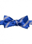 Robert talbott Blue with Black and White Striped Boc-italian Satin Bow tie 572002C-01| Sam's Tailoring Fine Men's Clothing