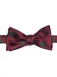 Robert talbott Red finish with multi color print Rt-Holiday Club Bow Tie 146530C-02| Sam's Tailoring Fine Men's Clothing