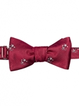 Robert talbott Red finish with Santa Print Boc-holiday Club Bow Tie 581022C-03| Sam's Tailoring Fine Men's Clothing