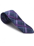 Robert talbott Purple and Navy Plaid Iboc-italian Super Jacquard 57697E0-04| Sam's Tailoring Fine Men's Clothing