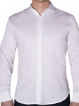 Robert talbott Travis Solid White Tailored Fit Knit ShirtLK240-04| Sam's Tailoring Fine Men's Clothing
