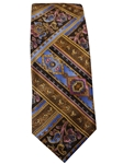 Robert Talbott Brown and Multi colored paisley Stripped 7 Fold Sudbury Tie 321123-11|Sam's Tailoring Fine Men's Clothing