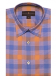 Robert Talbott Blue and Orange Check Classic Fit Sports Shirt LUM18048-01|Sam's Tailoring Fine Men's Clothing