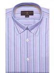 Robert Talbott Blue and pink Stripe Classic Fit Sports Shirt LUM18035-01|Sam's Tailoring Fine Men's Clothing
