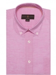 Robert Talbott Pink and White Check Classic Fit Sports Shirt LMB18040-01|Sam's Tailoring Fine Men's Clothing