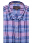 Robert Talbott Pink and Blue Plaid Crespi Iv-tailored Fit Sports Shirt TSM18038-01|Sam's Tailoring Fine Men's Clothing
