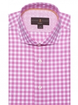 Robert Talbott Pink and White Check Marcus - Modern Fit Sports Shirt MMC18030-01|Sam's Tailoring Fine Men's Clothing